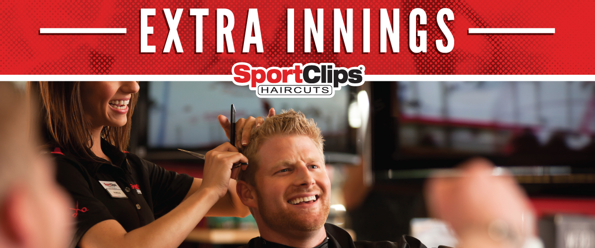 The Sport Clips Haircuts of South County Extra Innings Offerings